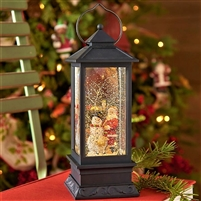 "Raz Imports 11"" Santa and Snowman Lighted Water Lantern (SOLD OUT FOR SEASON)"