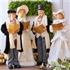 "Raz imports 18.5"" Christmas Caroler Black and Ivory (Set of 4)  SOLD OUT NOT AVAILABLE"