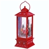 "Raz Imports 11"" Santa in Sleigh Lighted Water Lantern (Red)"