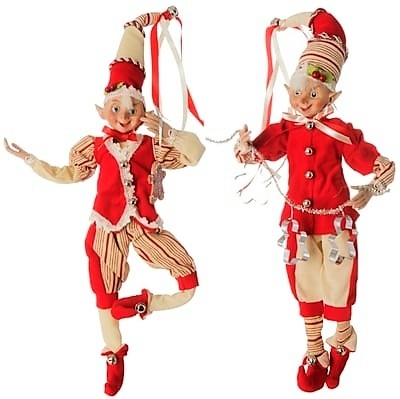 "Raz Imports 16"" Posable Elf ""Peppermint Kitchen"" Collection (Set of 2) RAZ3702378"