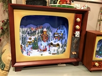 "Raz Imports Lighted & Animated 23"" TV Christmas Scene SOLD OUT!"