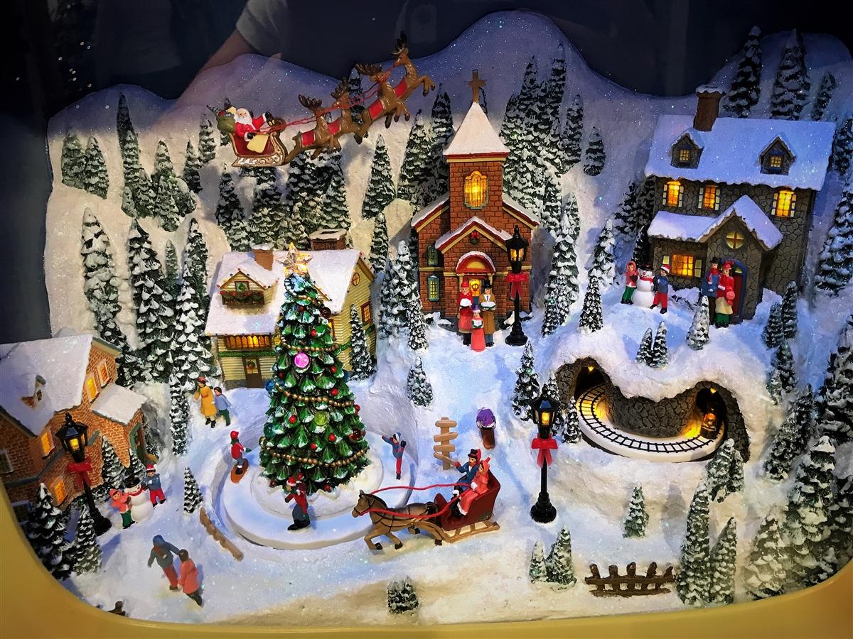 raz imports lighted animated 23 tv christmas scene sold out - Animated Christmas Scene Decorations