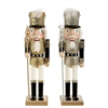 Raz Imports Gold & Silver Nutcrackers (Set of 2)