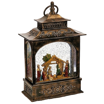 Raz Imports Lighted Water Globe Lantern Nativity OUT OF STOCK!!!!