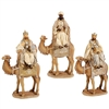 Raz Imports 17.5'' Gold and Cream Wisemen (Set of 3)