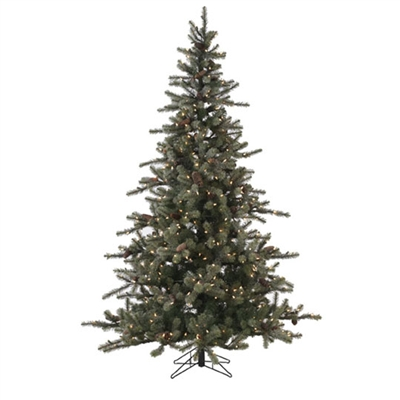 RAZ IMPORTS 7.5' PRE-LIT FROSTED TREE WITH OVER 400 LIGHTS