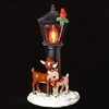 "ROMAN 7.25"" RUDOLPH & CLARICE FLICKR NL BY LAMP POST NIGHTLIGHT"