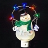 "ROMAN 8.5""LED SNOWMAN LET IT SNOW FLKR LED NIGHT LIGHT"
