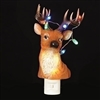 "ROMAN 8.75""DEER BUST W/LTD ANTLER NL BLINKING LIGHTED ANTLERS"