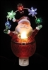 "ROMAN 7.75""SANTA NIGHTLIGHT LED GARLAND W/ BULBS & SWIVEL PLUG"