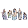 "ROMAN 5PC ST 15""BLUE ROBE NATIVITY SET"