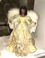 Season's Design 16'' (White & Gold) Dark Skinned Angel