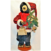Season's Design 36IN Dancing Christmas Black Bear