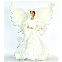 Season's design 16'' Angel White Feather-Like Wings