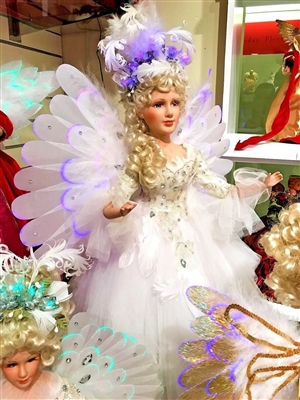 Season's design 32'' Christmas LED White F/O Motion Musical Angel