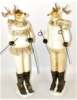 Season's Design 21'' Christmas Reindeer W/ Ski (Set of 2)
