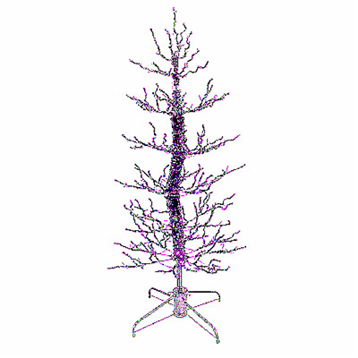Season's Design 6.5' Halloween Inboogeyin Tree (PURPLE)