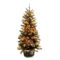 Season's Design 4.5FT Ice Storm Spruce Potted Tree w/ Brown Wood SD-92164450000