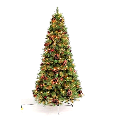 Season's Design Dorchester Décor Pine Lighted & Animated Christmas Tree SD-92293750000