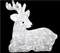 Season's Design 18X17'' Acrylic lying Deer 80LED White