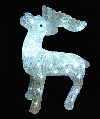 Season's Design 19in Acrylic Moose W/ 60 Led lights