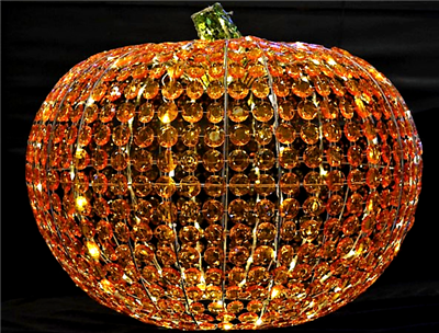 Season's Design 27.5'' Crystal Pumpkin W/160 LED W/Controller