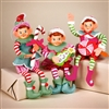 STERLING 10.5'' FESTIVE COLOR PIXIE (PINK, BLUE & RED JACKETS) SET OF 3 ELVES
