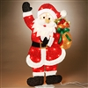 STERLING 32'' RED TINSEL ELECTRIC 2D SANTA, 35 CLEAR LIGHTS