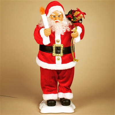 STERLING 24'' A/C ANIMATED SANTA HOLDING A CANDLE