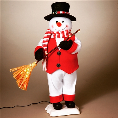 STERLING 24'' A/C ANIMATED SNOWMAN WITH LED BROOM