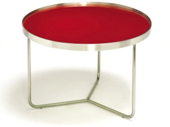 TAG Barlow Tall Red and Silver Table