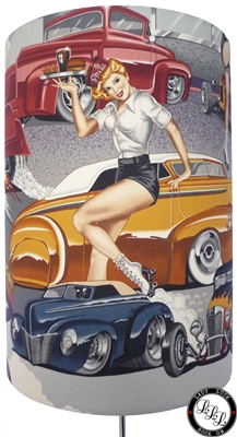 Roller Skating Pin Up Girls & Hot Rods
