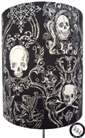 Baroque Gothic Skulls in black