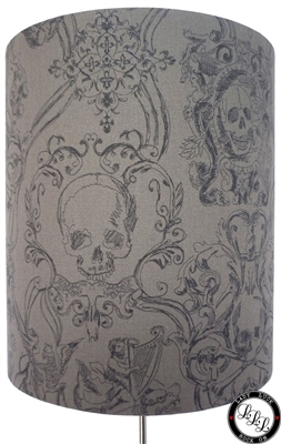 Baroque Gothic Skulls in grey
