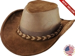 Leather Cowboy Hats - Henschel Brown Crushable Breezer