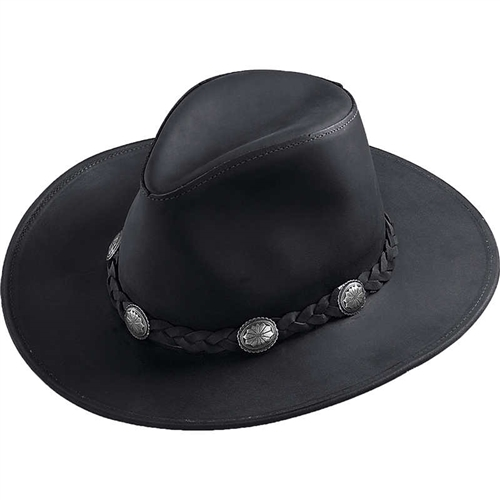 Leather Cowboy Hats - Henschel Concho Western Hat View Larger Photo Email  ... 6d30204b15b4