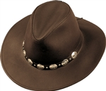 Leather Cowboy Hats - Henschel Brown Dude Western