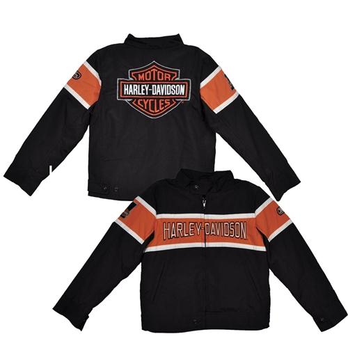 Harley Davidson Kids Nylon Jacket Biker Leather Bound