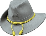 Henschel Civil War Leather Officers Hat Gray
