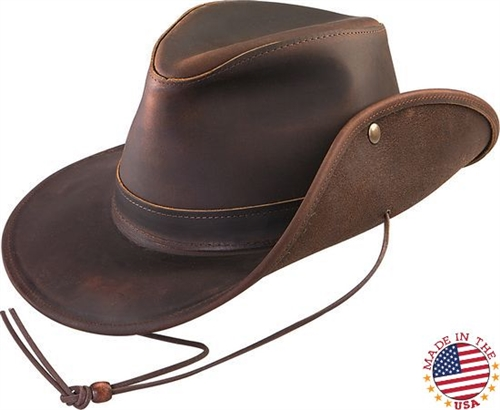 Leather Cowboy Hats Made in USA (Brown Walker) c509dc48f722