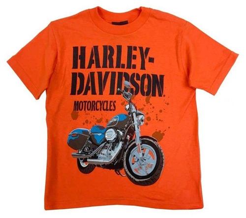Kids Harley Clothes Biker Harley Davidson Boys Logo T-Shirt Motorcycle
