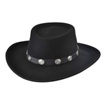 Bullhide Hats: Crushable Black Felt Western Fashion