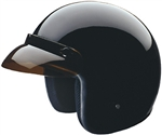 Motorcycle Helmets: DOT Black Open Face
