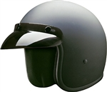 Men's Open Face Motorcycle Helmet: Matt Black