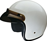 White Motorcycle Helmets: Open Face