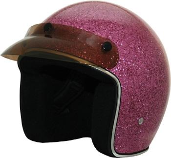 Women S Motorcycle Helmets Open Face Pink Glitter Leather