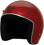 Ladies Red Glitter Motorcycle Helmets