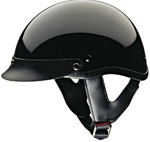 Motorcycle Half Helmets - DOT Approved Black