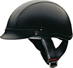 HCI-100 Half Helmets - DOT Approved Leather Motorcycle Helmet
