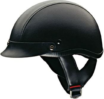 33389f6d HCI100 DOT Leather Motorcycle Half Helmet - On Sale